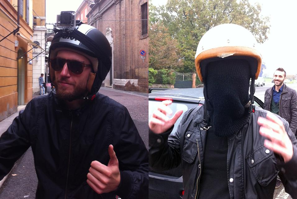 A ognuno il suo casco.