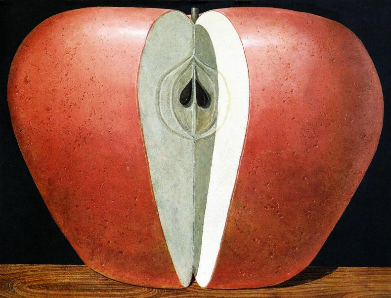 La mela, Domenico Gnoli. Nel 2001 la Palazzina dei Giardini ospitò una retrospettiva sull'artista.