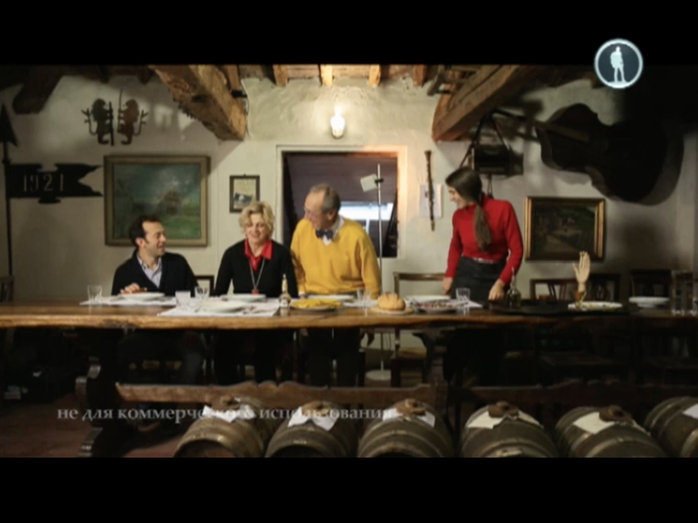 La famiglia Biancardi al completo: Emilio, Irene, Claudio e Aurora